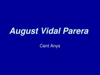August Vidal Parera