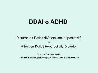 DDAI o ADHD