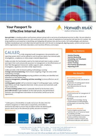 Your Passport To              Effective Internal Audit