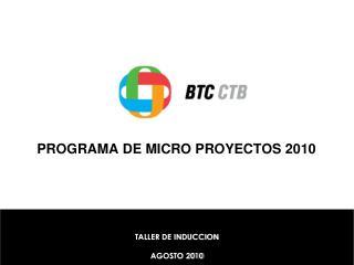 PROGRAMA DE MICRO PROYECTOS 2010