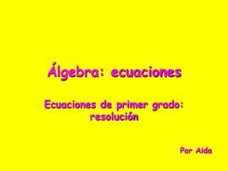 lgebra: ecuaciones