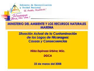 MINISTERIO DEL AMBIENTE Y LOS RECURSOS NATURALES  MARENA