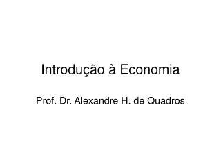 Introdu  o   Economia