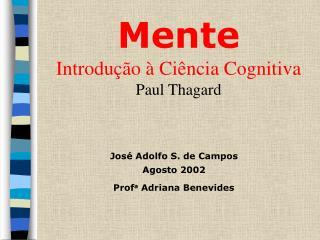 Mente Introdu  o   Ci ncia Cognitiva Paul Thagard