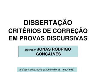 DISSERTA  O CRIT RIOS DE CORRE  O EM PROVAS DISCURSIVAS