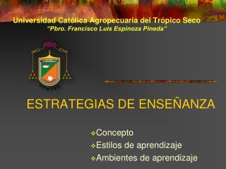 ESTRATEGIAS DE ENSE ANZA