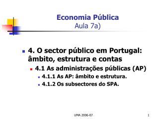 Economia P blica Aula 7a