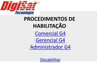 PROCEDIMENTOS DE HABILITA  O