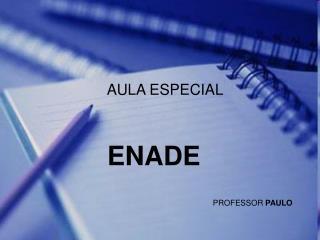curso especial ENADE