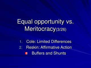 Equal opportunity vs. Meritocracy3