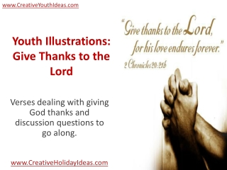 Youth Illustrations: Give Thanks to the Lord