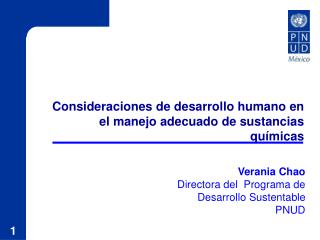 Consideraciones de desarrollo humano en el manejo adecuado de sustancias qu micas