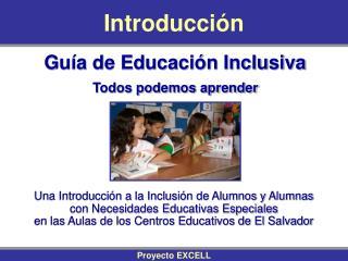 Gu a de Educaci n Inclusiva Todos podemos aprender