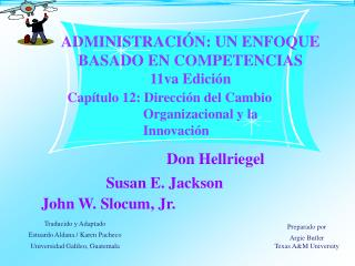 Cap tulo 12: Direcci n del Cambio Organizacional y la Innovaci n