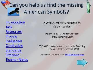 Can you help us find the missing American Symbols
