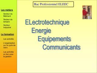 Bac Professionnel ELEEC