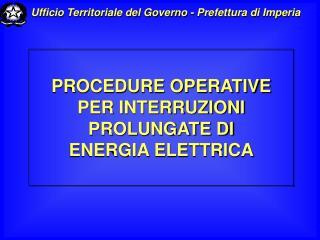 Ufficio Territoriale del Governo - Prefettura di Imperia