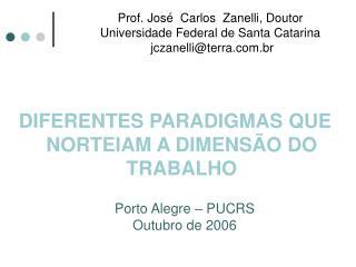 Prof. Jos   Carlos  Zanelli, Doutor Universidade Federal de Santa Catarina   jczanelliterra.br
