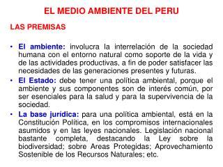 EL MEDIO AMBIENTE DEL PERU