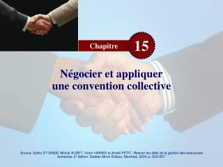 N gocier et appliquer une convention collective