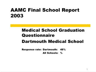 AAMC Final School Report 2003