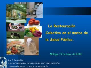 Jos  A. Conejo D az DIRECCI N GENERAL DE SALUD P BLICA Y PARTICIPACI N.  CONSEJER A DE SALUD.JUNTA DE ANDALUC A