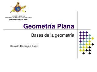 Geometr a Plana