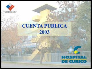 CUENTA PUBLICA 2003