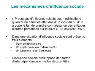 Les m canismes d influence sociale