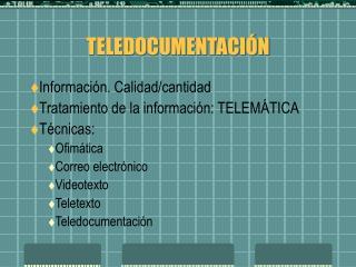 TELEDOCUMENTACI N