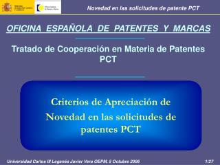 OFICINA  ESPA OLA  DE  PATENTES  Y  MARCAS  Tratado de Cooperaci n en Materia de Patentes PCT
