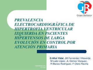 PREVALENCIA ELECTROCARDIOGR FICA DE HIPERTROFIA VENTRICULAR IZQUIERDA EN PACIENTES HIPERTENSOS DE LARGA EVOLUCI N EN CON