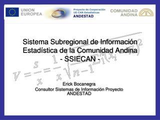 Sistema Subregional de Informaci n Estad stica de la Comunidad Andina - SSIECAN -