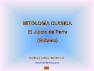MITOLOG A CL SICA El Juicio de Paris Rubens