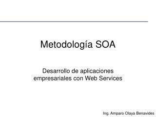 Metodolog a SOA