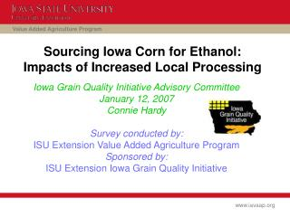 Sourcing Iowa Corn for Ethanol:  Impacts of Increased Local Processing