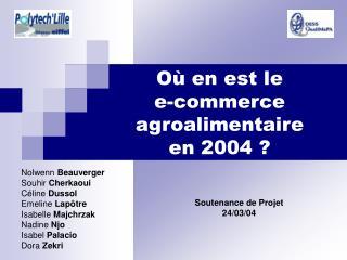 O  en est le  e-commerce  agroalimentaire  en 2004