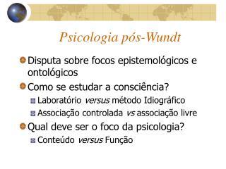 Psicologia p s-Wundt