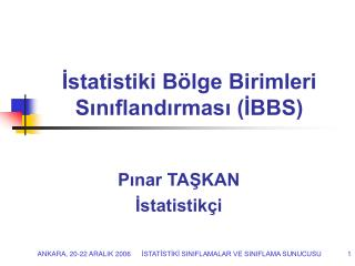 Istatistiki B lge Birimleri Siniflandirmasi IBBS