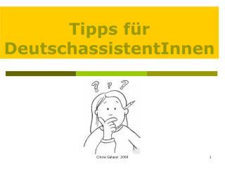 Tipps f r DeutschassistentInnen