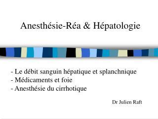Anesth sie-R a  H patologie