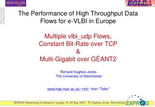 The Performance of High Throughput Data Flows for e-VLBI in Europe  Multiple vlbi_udp Flows, Constant Bit-Rate over TCP