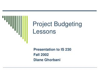 Project Budgeting Lessons