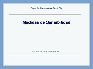 Medidas de Sensibilidad