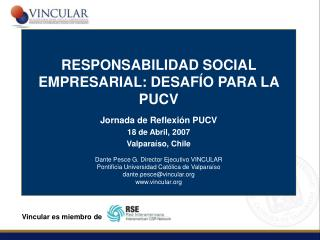 VINCULAR RESPONSABILIDAD SOCIAL EMPRESARIAL