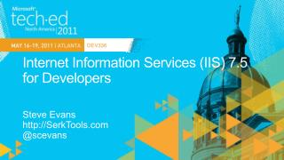 Internet Information Services IIS 7.5 for Developers
