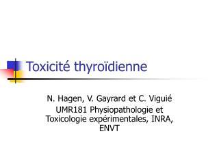 Toxicit  thyro dienne