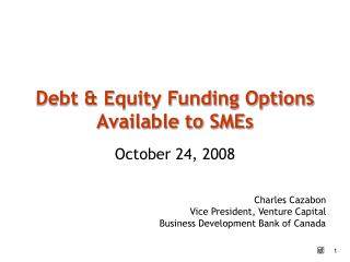 Debt  Equity Funding Options Available to SMEs