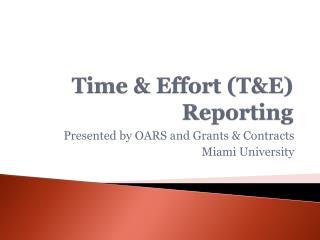 Time  Effort TE Reporting