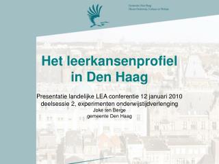 Het leerkansenprofiel  in Den Haag